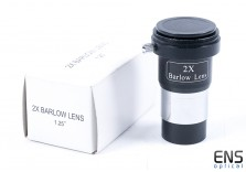 """Skywatcher 2x Barlow Lens 1.25"""" with T2 Thread for Camera Boxed"""