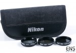 "Set of 3 Japanese Filters CPL, ND4 and ND8 - 1.25"" with Nikon Pouch"