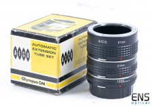 Aico Automatic Extension Tube Set - Olympus OM - Boxed