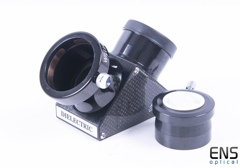 "William Optics 2"" Dielectric Carbon Fibre Mirror Diagonal with 1.25"" Adapter"