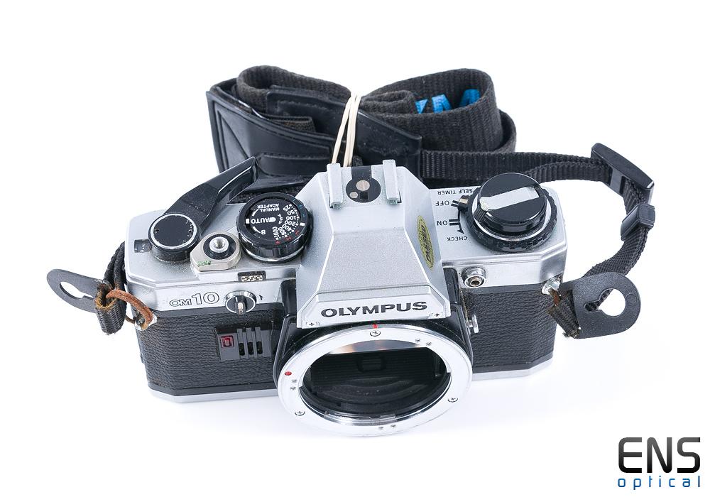 Olympus OM10 35mm Film SLR Camera Silver - 1430629 *SPARES*