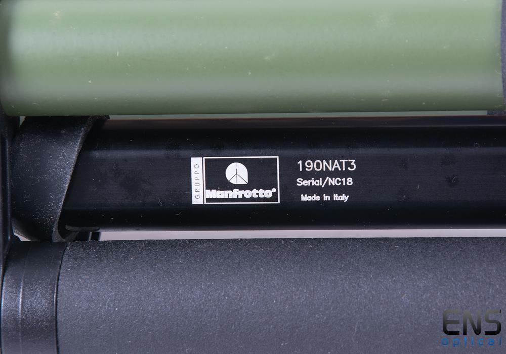 Manfrotto 128RCNAT Head & 190NAT3 Tripod Green - Birding & Spotting
